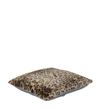 Faux Fur Pet Cushion Cover Small(55x50cm) - Leopard