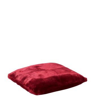 Faux Fur Pet Cushion Cover Small(55x50cm) - Loganberry