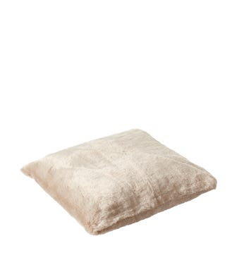 Faux Fur Pet Cushion Cover Small - Seal Grey