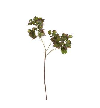 Faux Grape Leaf Stem - Multi