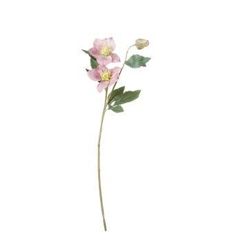 Faux Hellebore Stem - Pink