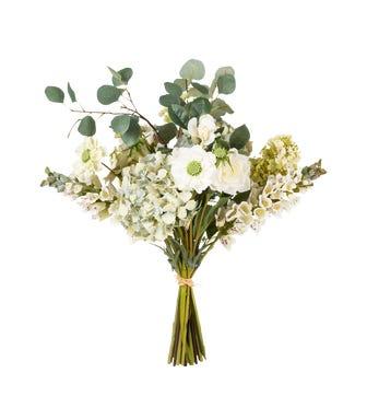Faux Hydrangea, Scabiosa Mixed Bunch - Multi