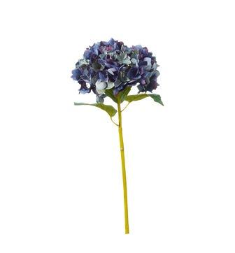 Faux Hydrangea Stem - Blue