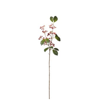 Faux Lingonberry Stem - Red