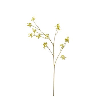 Faux Maple Bud Branch - Green