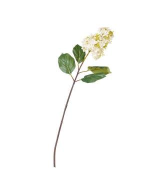 Faux Paniculata Flower Stem - White