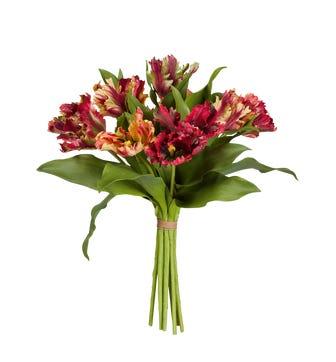 Faux Parrot Tulip Bunch - Multi