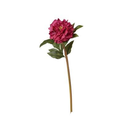 Faux Peony Stem - Fuchsia