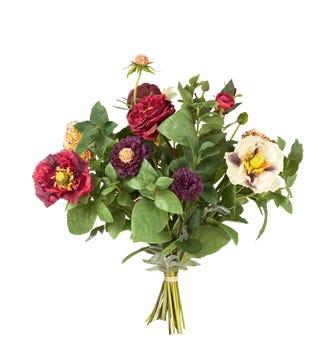 Faux Poppy, Hydrangea & Tulip Bunch - Multi