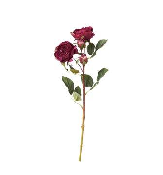 Faux Rose Stem - Deep Purple