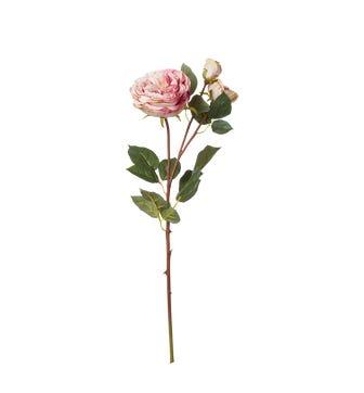 Faux Rose Stem - Pale Pink