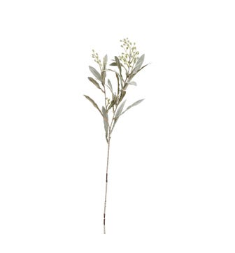 Faux Seeded Eucalyptus Stem - Pale Green