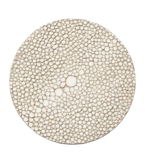 Faux Shagreen Coasters, Set of 4 - Taupe