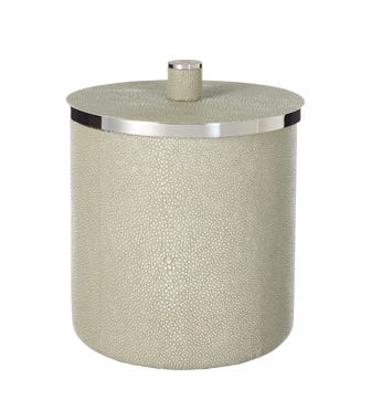 Faux Shagreen Ice Bucket - Taupe