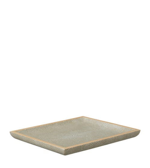 Faux Shagreen Key Tray - Taupe