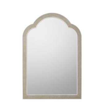 Faux Shagreen Palancar Mirror - Taupe