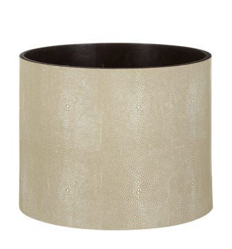 Faux Shagreen Planter - Taupe