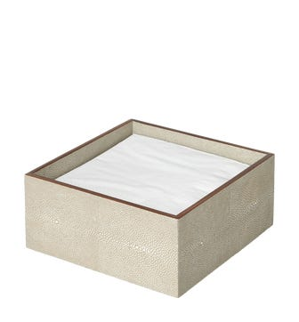 Faux Shagreen Storage Box - Taupe