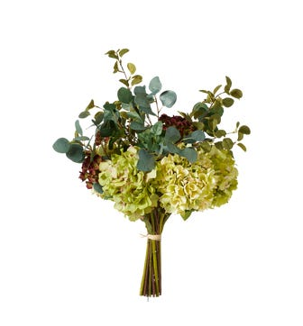 Faux Small Hydrangea and Hellebore Bunch - Multi