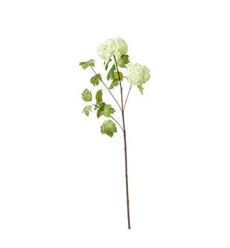 Faux Snowball Viburnum Branch - Green