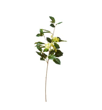 Faux Viburnum Branch - Green