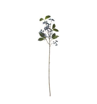 Faux Wild Blueberry Stem - Blue