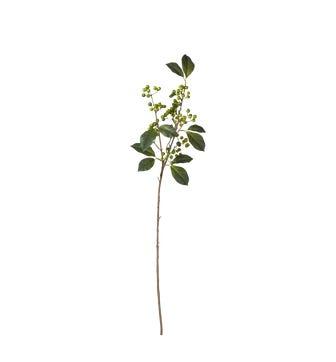 Faux Wild Green Berry Stem - Green