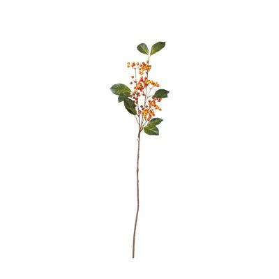 Faux Wild Rowanberry Stem - Orange
