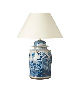 Fenghuang Ceramic Table Lamp - Blue