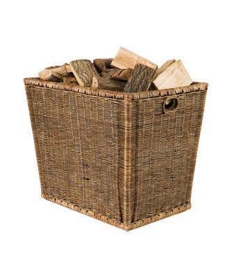 Burley Log Rattan Storage Basket - Brown