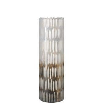 Fika Tall Glass Vase - Gray/White