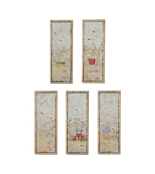 Set of Five Pentangle Wall Art Panels - Multi
