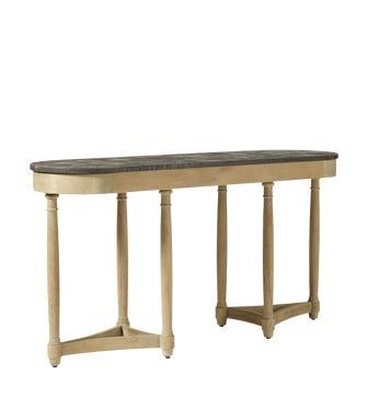 Flavian Console Table - Oak / Stone