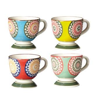 Florya Espresso Mugs, Set of 4 - Multi