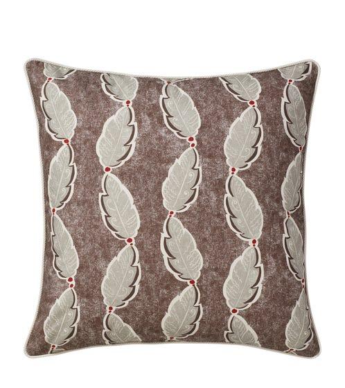 Fractal Leaf Cushion Cover (51cmSq) - Elephant Grey