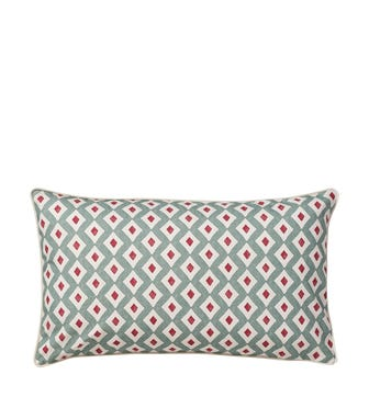 Fractal Mesh Pillow Cover - 23.5in Rectangular - Cotton - Seagreen