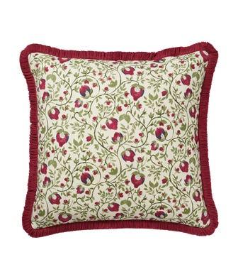 Fragaria Cushion Cover - Putting Green/Raspberry