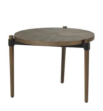 Garasu Side Table - Aged Bark