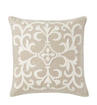 Gawain Cushion Cover, Large - Natural/Off-White