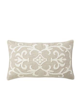 Gawain Cushion Cover, Small - Natural/Off-White