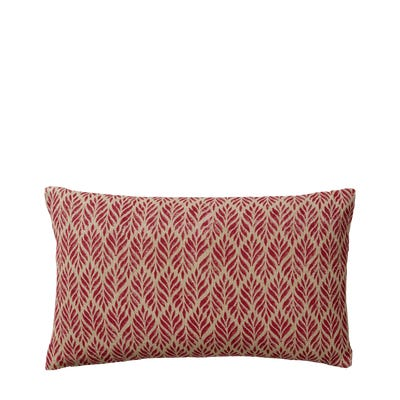 Ghini Fronds Cushion Cover, Small - Red