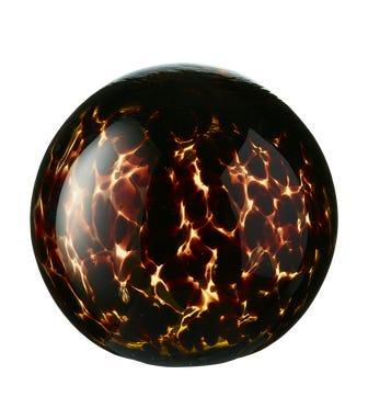 Glass Tortoiseshell Decorative Ball Large - Multi