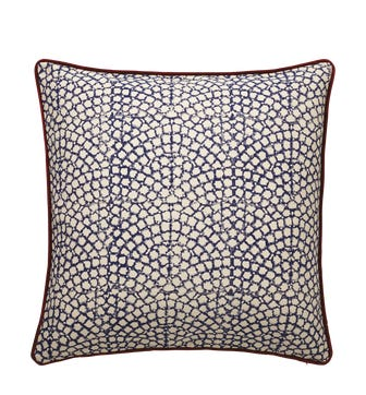 Guilloche Cushion Cover, Large - Blue