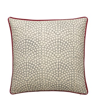 Guilloche Cushion Cover, Large - Grey