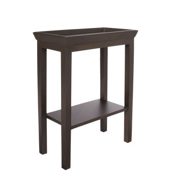 Gustavian Wooden Sofa Side Table - Rubbed Black