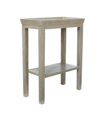 Gustavian Wooden Sofa Side Table - Silver Birch