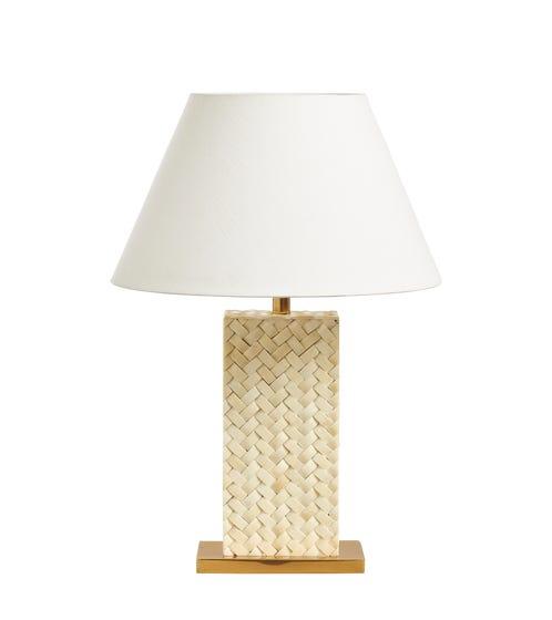 Haddee Bone Weave Table Lamp - Ivory