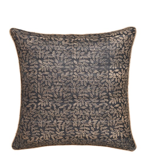 Hadspen Pillow Cover With Piping - Soot