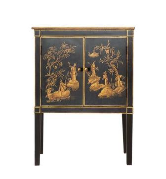 Handpainted Han Chinese Cabinet - Black