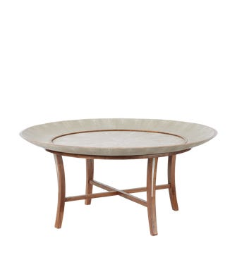 Hengsha Coffee Table Large - Taupe/Nut Brown